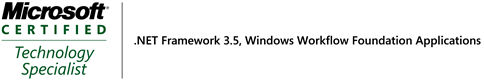 My First .NET 3.5 Cert - MCTS on Windows Workflow Foundation